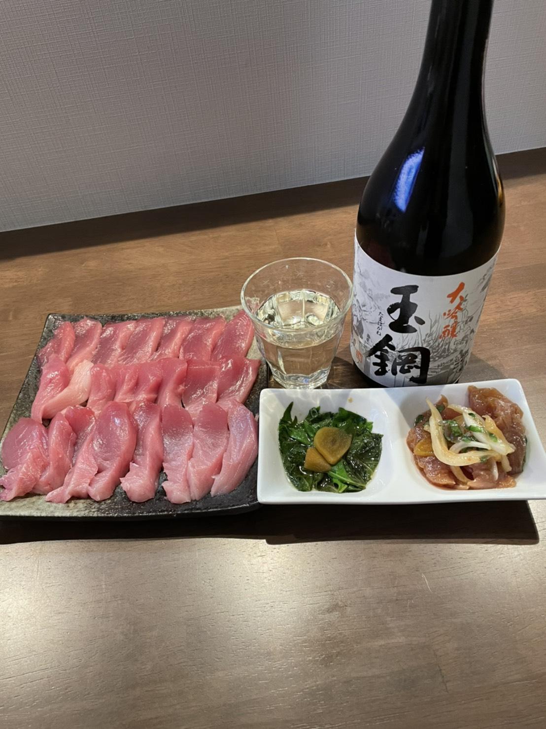 お魚の日には日本酒🎵